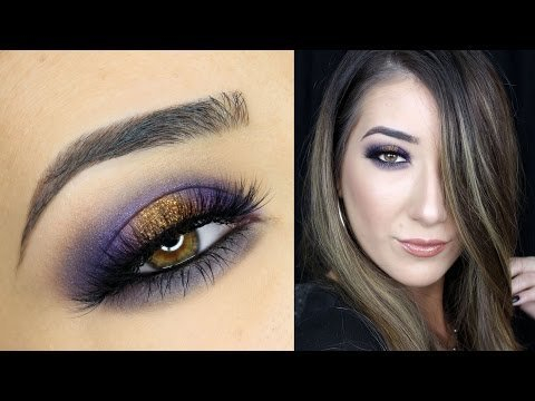 Purple And Gold Smokey Eye Makeup Purple And Gold Smokey Eye Makeup Tutorial Anastasia Beverly Hills