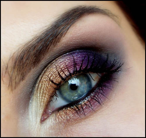 Purple And Gold Smokey Eye Makeup Sexy Eyes In A Few Easy Steps