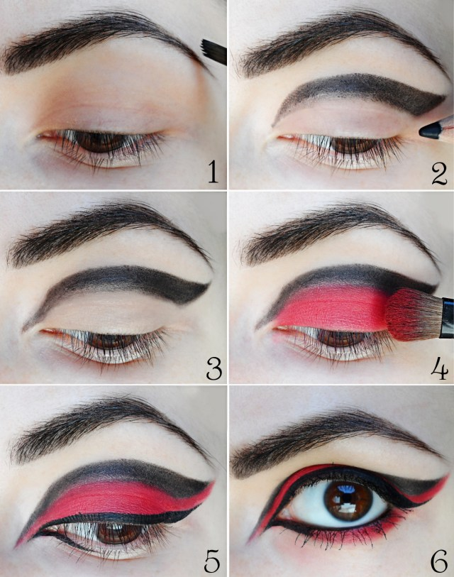 Red And Black Eye Makeup Gothic Red Black Eyes Halloween Makeup Tutorial