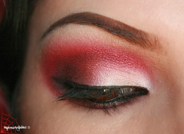 Red And Black Eye Makeup Red Glitter Eye Makeup Makeup Academy