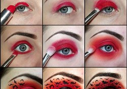 Red Halloween Eye Makeup Get The Look Halloween Eye Makeup