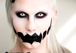 Scary Eye Makeup Crazy Scary Ghost Make Up Tutorial Halloween 2013 Youtube