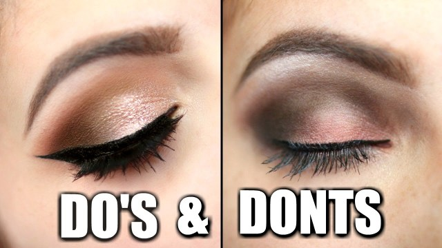 Shaded Eye Makeup Eyeshadow Dos And Donts Youtube