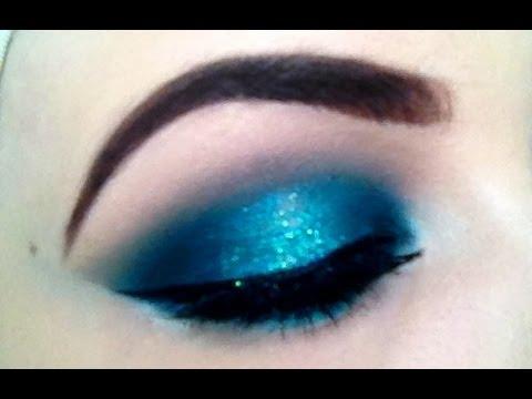 Teal Smokey Eye Makeup Make Up Tutorial Teal Aqua Halo Effect Smokey Eye Emmajvb