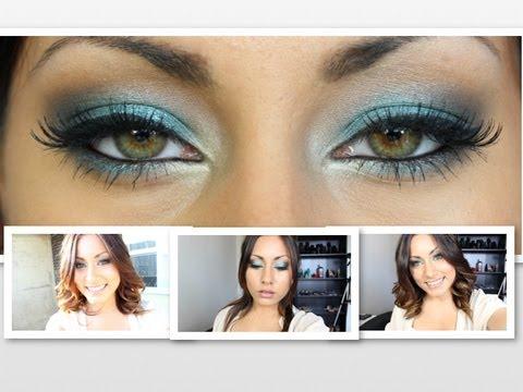 Teal Smokey Eye Makeup Teal Smokey Eye Tutorial Youtube