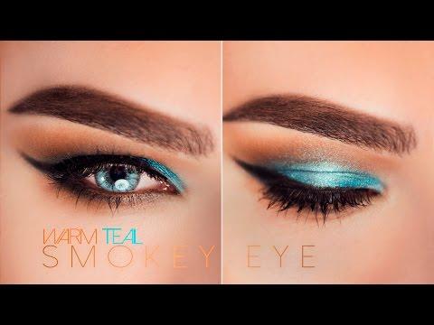 Teal Smokey Eye Makeup Warm Teal Smokey Eye Talk Through Makeup Tutorial Youtube