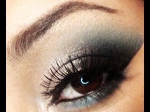 Teal Smokey Eye Makeup White And Teal Smokey Eyes Makeup Tutorial Using Raving Beauty