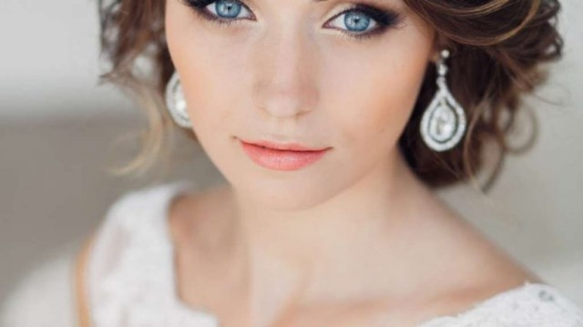 Wedding Makeup Blue Eyes Brown Hair Bridal Makeup Blue Eyes Brown Hair Wavy Haircut
