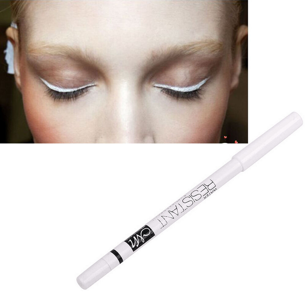 White Makeup Under Eyes 3pcs Waterproof Long Up Eyeliner Pencil White Color For Under Eye