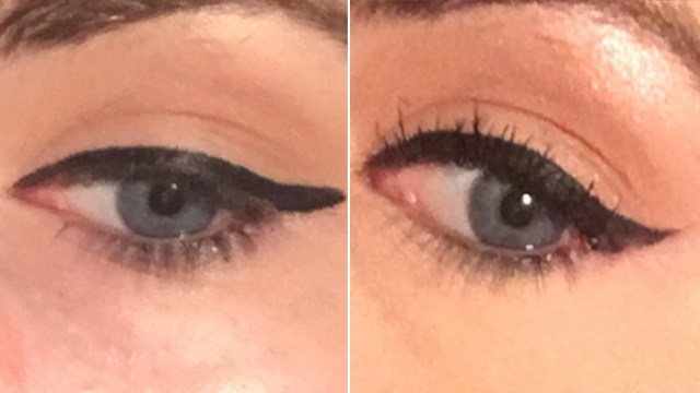 Winged Eye Makeup Easy Winged Eyeliner Trick Makes Your Cat Eye Flick So Sharp Allure