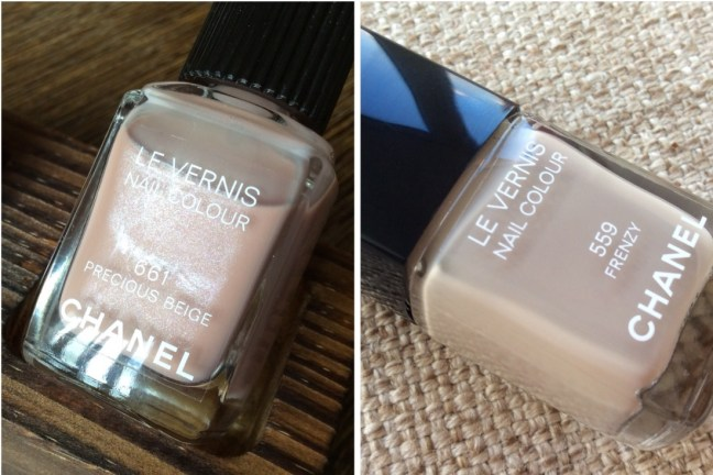 Chanel Le Vernis Nail Colour #559 Frenzy VS #661 Precious Beige Review Swatches