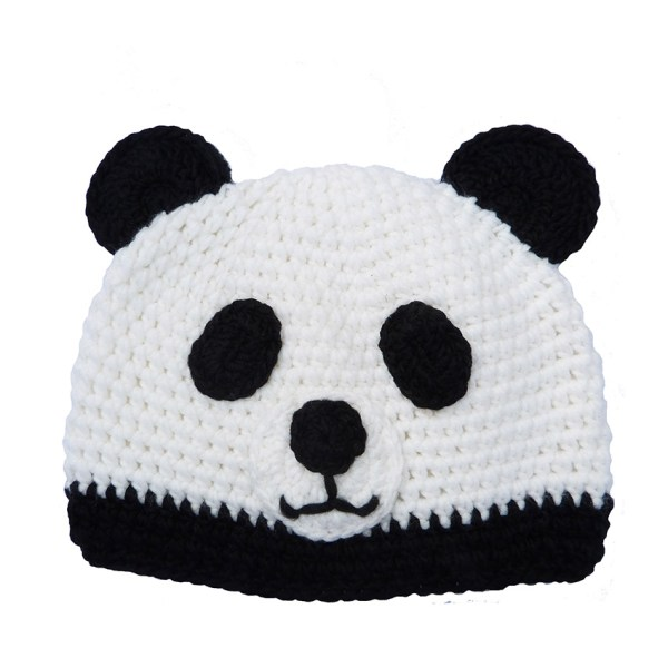 knitted hat panda