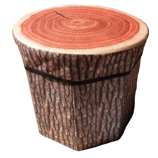 log stool laundry box
