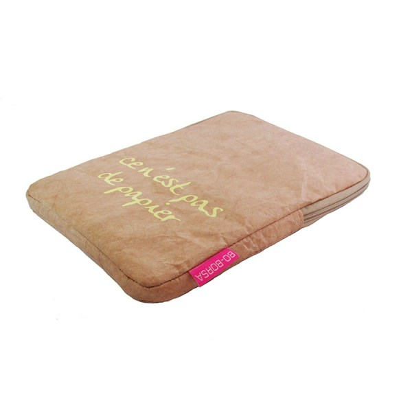 ipad cover, brown tyvek, ipad sleeve