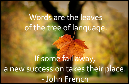 English Picture Quote of the Day John French  Make Your English Work