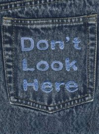 Message on back pocket Message on back pocket ...