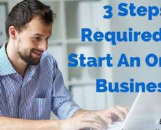 3 Steps To Start An Online Business