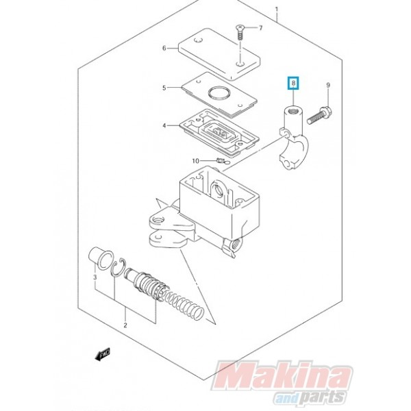 5967132F00 Βάση Καθρέφτη Suzuki DL-650/1000 V-Strom