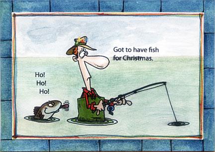 Fishing Christmas Cards
