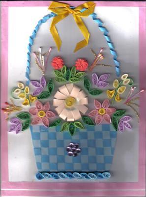Quilled Flower Basket