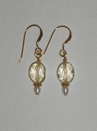 making-jewelry.com - Citrine Bead Earrings