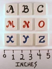 Assorted Handmade Ceramic Alphabet Tiles