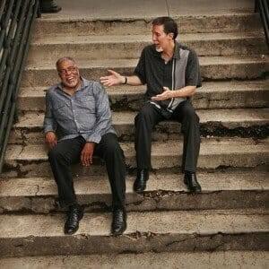 Andy Talamantez and Nick Nixon album shoot. photo by Bill Steber
