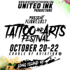 UNITED INK PRODUCTIONS  FLIGHT: 1017 TATTOO and ARTS FESTIVAL  COMES TO THE CRADLE OF AVIATION MUSEUM OCTOBER 20TH-22ND