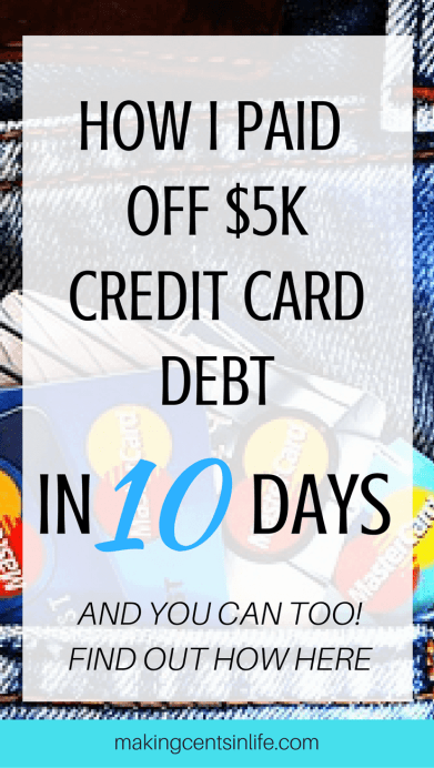 Find out what I did to pay off one credit card debt in just 10 days!