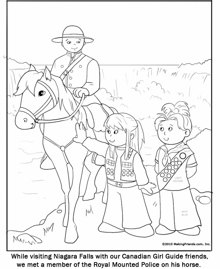 Canadian Guide Coloring Page