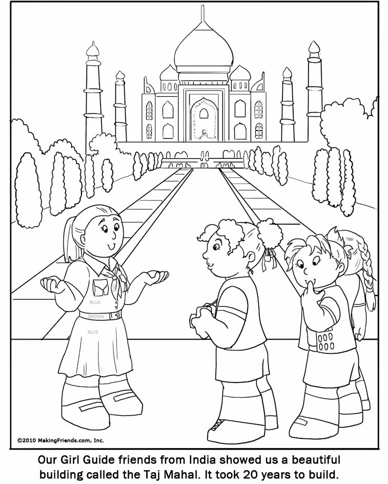 Gurdwara Temples Colouring Pages Sketch Coloring Page