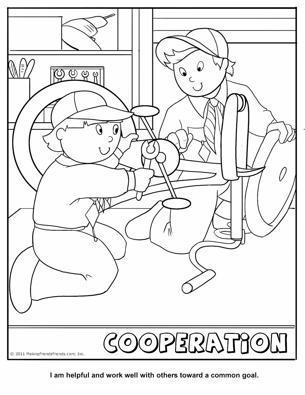 Self Control Coloring Pages For Kids