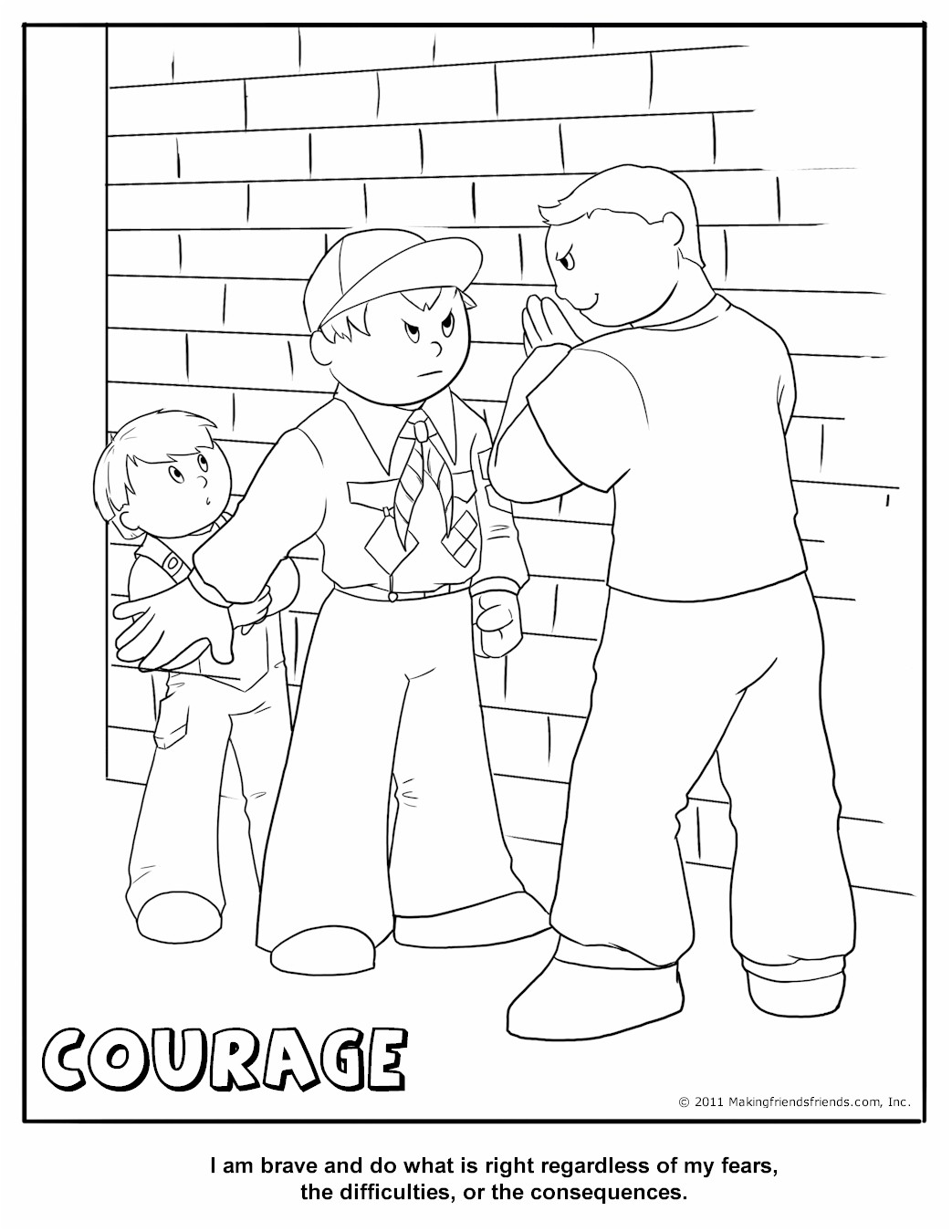 Cub Scout Courage Coloring Page