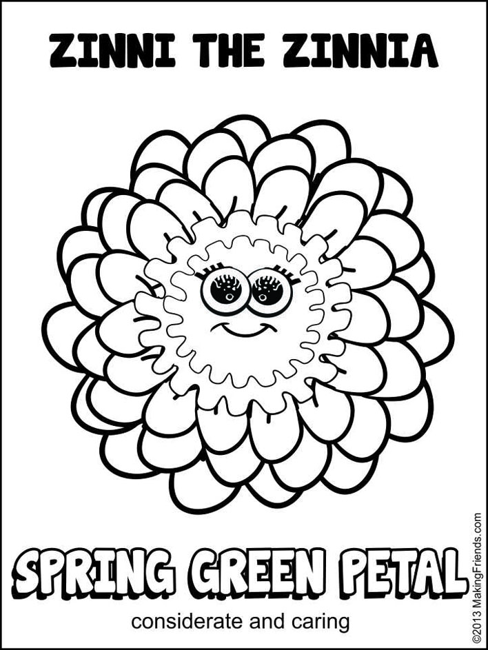 Free coloring pages of daisy girl scout petals