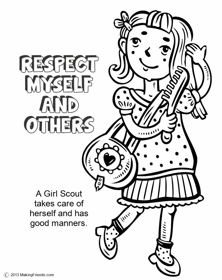 The Law, Respect Myself and Others Coloring Page