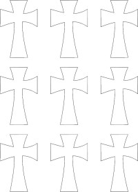 The gallery for --> Decorative Cross Template