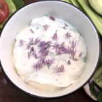 Lemon Chive Yogurt Cheese in a bowl