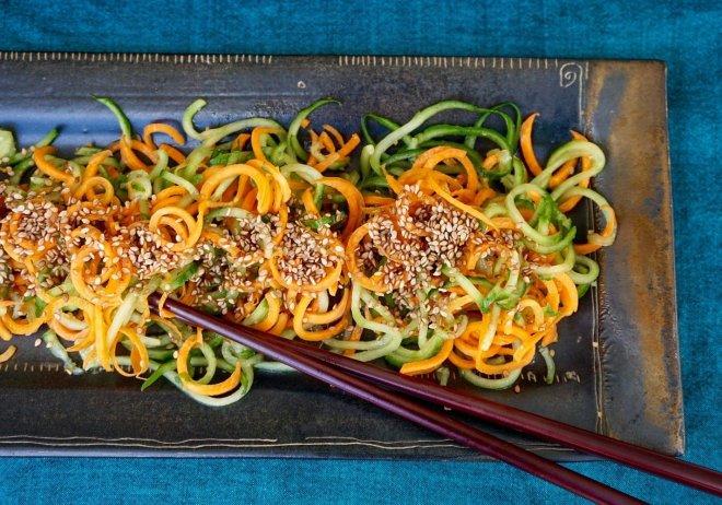 Cucumber Carrot Salad with Sesame Seeds