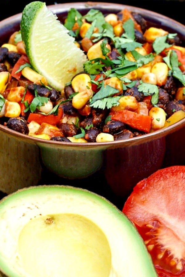 Black Bean, Corn and Red Pepper Tacos