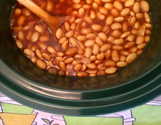 Apple Cider Baked Beans - Making Healthy Choices