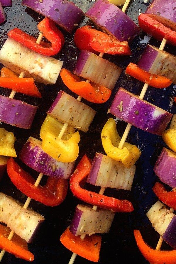 Sheet Pan Eggplant Souvlaki
