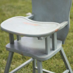 Vintage Wood High Chair Wedding Covers Cheltenham Wooden With Annie Sloan Chalk Paint Painted