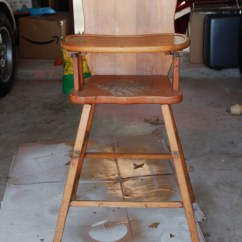 Antique Wooden High Chair Ikea Covers Canada With Annie Sloan Chalk Paint Vintage Painted