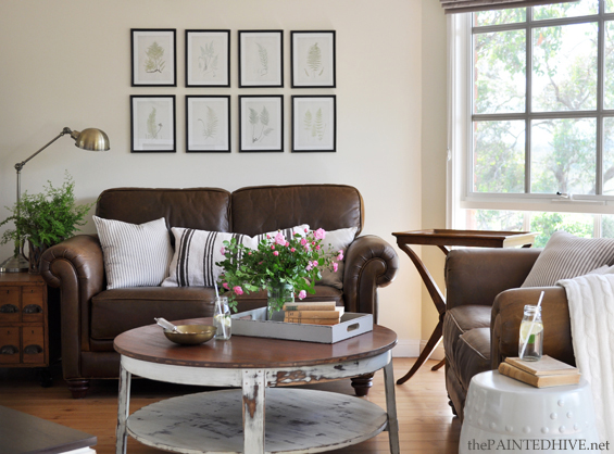 Living Room Brown Cozy Rooms And Dark Leather Sofa Decorating Ideas