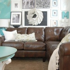 Living Room Design Ideas With Brown Leather Sofa Blue Grey Paint Colors For Decorating A And Loving