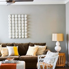 Accessorize Grey Living Room Wall Divider In Decorating With A Brown Sofa