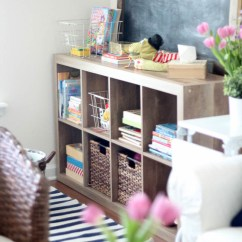 Living Room Organization Idea With Brown Couch How To Manage Toy When You Don T Have A Playroom Wrangling Toys In The 2