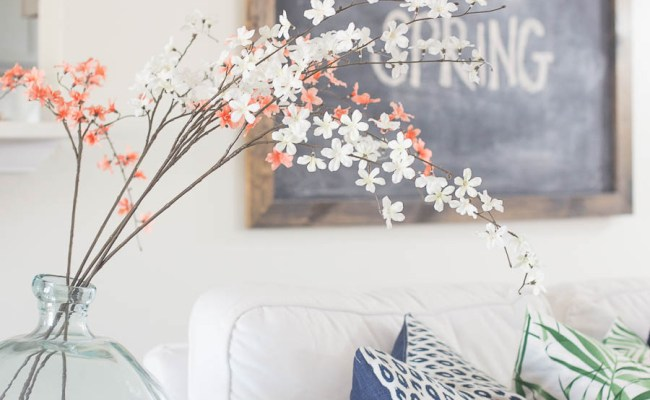 Living Room Spring Decorating Inspiration And Ideas