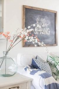 Living Room Spring Decorating - Making Home Base