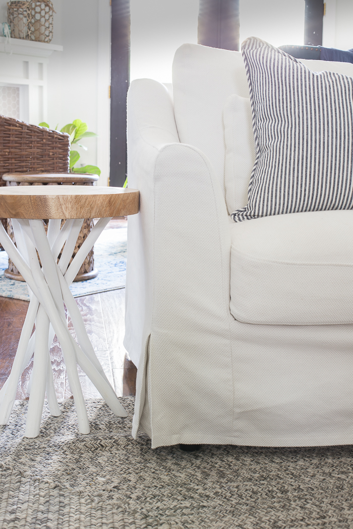 slipcover sofa and chair oak furniture beds ikea chairs - the perfect pair of coastal chic